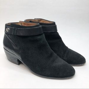 Madewell Charley Black Suede Leather Ankle Booties